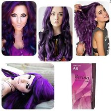 BERINA PROFESSIONAL PERMANENT HAIR DYE COLOR CREAM PURPLE VIOLET # A6