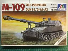 Italeri 1/35 M-109 Self Propelled Howitzer E4/G/A1/A2 Model Kit 246 (Complete)