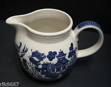 Blue Willow pattern by Churchill Milk Jug Georgian Shape 850ml  (or over a pint)