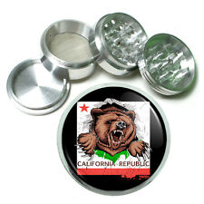 California Republic Bear D1 Aluminum Herb Grinder 63mm 4 Piece Hand Mueller Cali