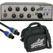 Aguilar Tone Hammer 350 Bass Guitar Amplifier Head Amp + Bag + 10' Speakon Cable