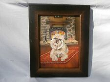 Handsome Brussels Griffon Canine Portrait Dog Laying On Persian Rug By Fireplace