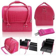 Pink PU Leather Fashion Makeup Case /Vanity Bag/Jewelery Box/ Case