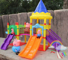 AAAA+ New Peppa Pig Playground Children's Slide Play Set With Figures Xmas Gift