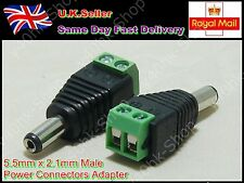 5.5mm X 2.1mm DC Power Male Jack Connector Cable Adapter Plug CCTV/LED Strip