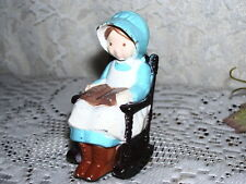 HOLLY HOBBIE CAST IRON FIGURINE ON ROCKING CHAIR AMERICAN GREETINGS 1978