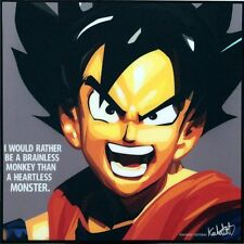 Goku Dragon ball z canvas quote wall decals photo painting framed pop art poster