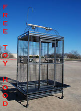 "Extra Large Parrot Cage For Macaw Cockatoo African Grey Amazon 32""X23""X66""H -258"