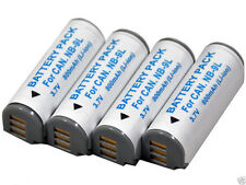 new 4pcs NB-9L Battery for IXUS 1000 1100 500 HS PowerShot N N2 SD4500 510 NB9L