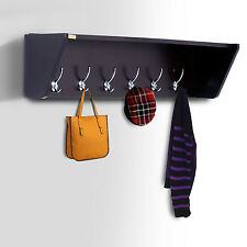 HOMCOM Entryway Coat Rack Organizer 6 Hook Hat Bag Holder Shelf Hanger Coff