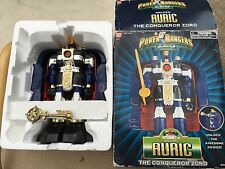 Power rangers  Zeo Auric the conqueror zord megazord boxed with metal key