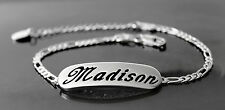 MADISON - Bracelet With Name - 18ct White Gold Plated - Gifts For Her