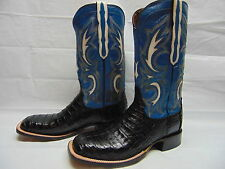 Lucchese Since 1883 Men 10.5 Shiloh Black & Blue Caiman Belly Cowboy Boots M2680