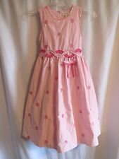 THE CHILDREN'S PLACE Pink Sequin Dot Taffeta Special Occasion Dress Size 8 EUC