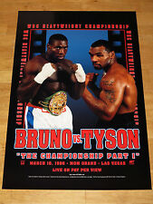 MIKE TYSON vs. FRANK BRUNO ORIGINAL VINTAGE POSTER 1996 FIGHT 2 RARE in MINT
