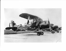 "WWII 2669M CAMO BIPLANE AIRPLANE (NX-C5) IN FORMATION 5"" x 7"" B&W Photograph"