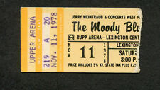 1978 Moody Blues concert ticket stub Lexington KY Octave Nights In White Satin
