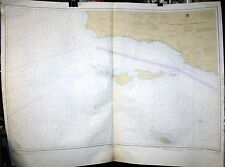 LARGE VINTAGE DEPTH CHART MAP 18720 POINT DUME - PURISIMA POINT CALIFORNIA 46X30