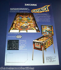 Zaccaria BLACKBELT Original Flipper Game Pinball Machine Promo Sales Flyer Italy