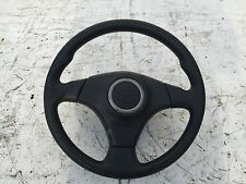 2002 TOYOTA RAV4 4X4 STEERING WHEEL WITH AIR BAG BLACK LEATHER
