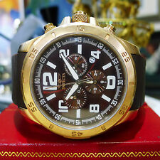 Invicta Men's 1917 Specialty Chronograph Brown Dial Brown Polyurethane Watch