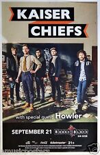 KAISER CHIEFS / HOWLER 2014 SAN DIEGO CONCERT TOUR POSTER - Indie Rock Music
