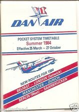 Airline Timetable - Dan-Air - 25/03/84 - Pocket - System - S
