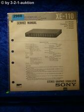 Sony Service Manual XE 110 Graphic Equalizer (#2988)