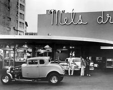 American Graffiti '32 Deuce Coupe & 58 Impala at Mel's Drive In 24x30 poster