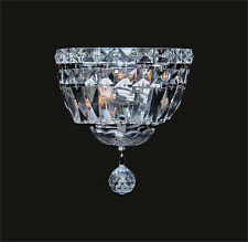 """Small Decorative Crystal WALL SCONCE (D8""""x H7"""" E5"""") 2 Lights; Chrome Finish SALE"""