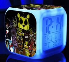 Colorful Color Alarm Clock FNAF Five 5 Nights at Freddy's LED Alarm Clock