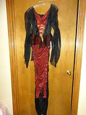 Red and Black Vampire Vixen Women's Halloween Costume Vampira Size Small
