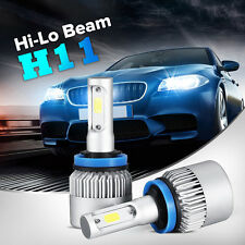 2x 160W 16000LM PHILIPS LED HEADLIGHT BULBS KIT H11 H8 H9 6500K WHITE  LOW BEAM