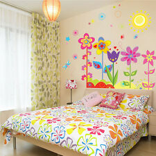 Sun Flower Butterfly Dragonfly Removable Vinyl Art Decal Wall Sticker Room Decor