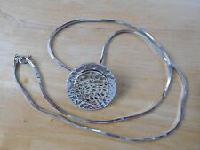 """Silpada Sterling Silver and Gold Wash Hammered Disc Pendant S1375 and 20"""" Snake"""