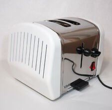 Vintage Retro Villaware Uno 2 Slice Toaster Modern Art Deco  5825-W Chrome White