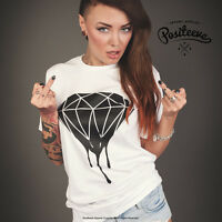 DRIPPING DIAMOND T SHIRT TOP TUMBLR SWAG HOMIES WASTED LOGO DOPE DES UNISEX NEW