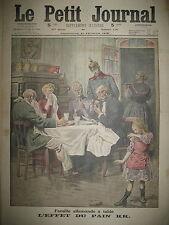 PAIN KK. A TABLE DE LA FAMILLE ALLEMANDE PRUSSIEN AU LASSO LE PETIT JOURNAL 1915
