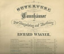 Spartito Musicale Tannhauser di Richard Wagner Ouverture per Pianoforte 1910