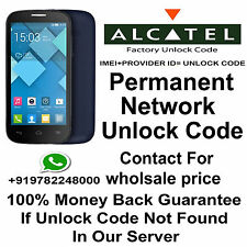 PERMANENT NETWORK UNLOCK CODE FOR ALCATEL OT-9002X