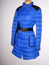VERY STYLISH AUTHENTIC KAREN MILLEN COAT DOWN PUFFA QUILTED COAT BLUE SIZE 14
