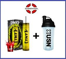 TNT Light The Fuse Pre Workout 20 Servings PLUS FREE USN SHAKER Blue Raspberry