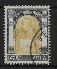MALAYA PERLIS SGZ421 THAILAND 1905 8a OLIVE-BISTRE & DULL BLACK USED IN PERLIS