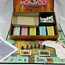 Monopoly The Lord of the Rings Trilogy Edition Family Board Game 99% Complete