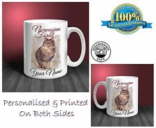 Norwegian Forest Cat Personalised Ceramic Mug: Perfect Gift. (CA09)