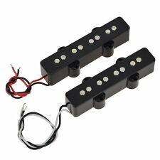 1 Set of 4 String Jazz Bass Open Pickups For Electric Bass Guitar Black