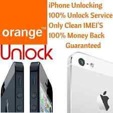 UK Orange iPhone 5S 6 6+ Factory Unlock 100% Permanent Unlocking Only Clean IMEI