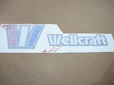 """NOS OEM WELLCRAFT BOAT 4.5"""" HIGH X 16.5"""" WIDE STARBOARD NAMEPLATE"""