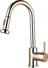 New Single Lever Brushed Nickel Bar / Kitchen Sink Pull-out Spray Faucet Mixer