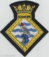 HMS Seahawk Culdrose Royal Navy Embroidered Crest Badge Patch - MOD Approved
